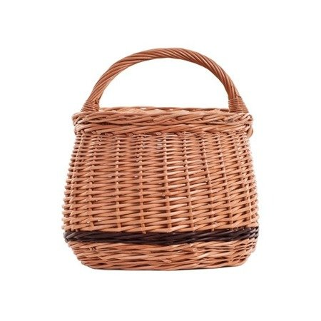 Shabby chic wicker picnic basket