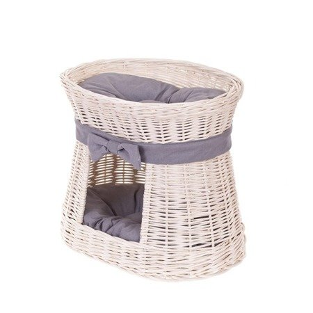 Wicker Pet Bed With Cushion