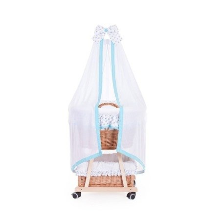 basket for a child with a canopy, baby wicker pram