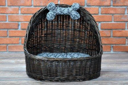 pet wicker basket , cat or dog roofed basket
