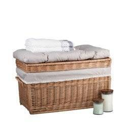 Wäscheschrank  Truhe für Wäsche in Naturfarbe 70x42 H47 cm