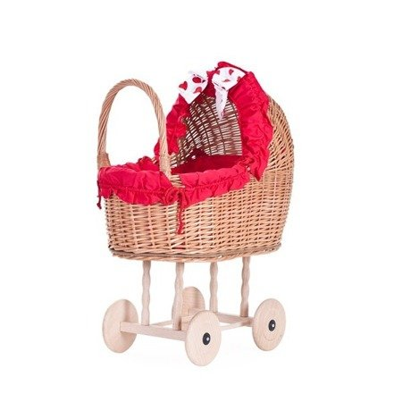 Ein Bett für Puppen aus Weide / Puppenwagen / Puppenbett