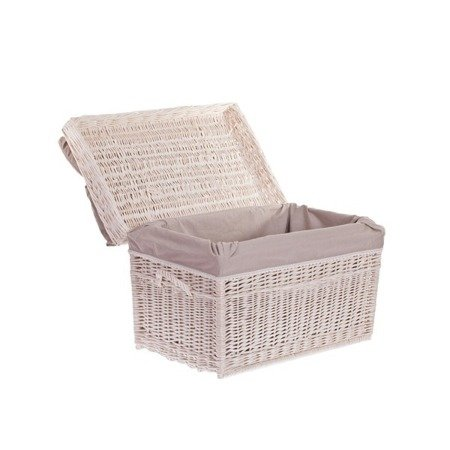 Wäscheschrank, Truhe für Wäsche mit Besatz und Kissen