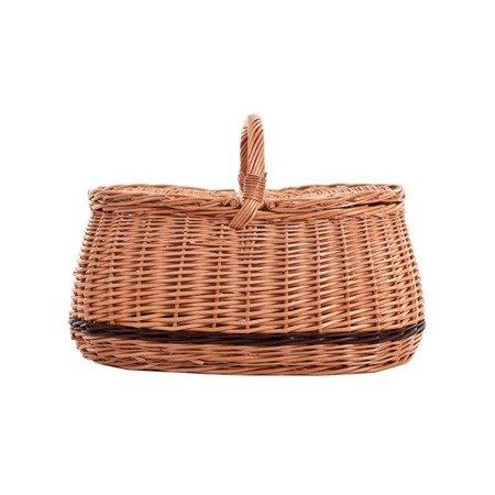 Wiklinowy kosz piknikowy z podwójnym wiekiem