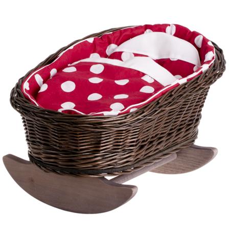 Wózek Kołyska Łóżeczko wiklinowe dla lalek