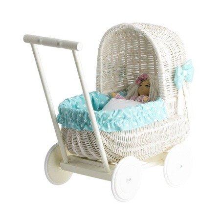 Wózek wiklinowy dla lalek