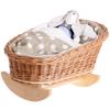 Łóżeczko wiklinowe dla lalek